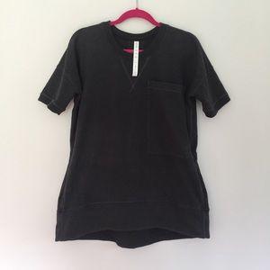LULULEMON Mudra Short Sleeve Sweatshirt 10 Gray